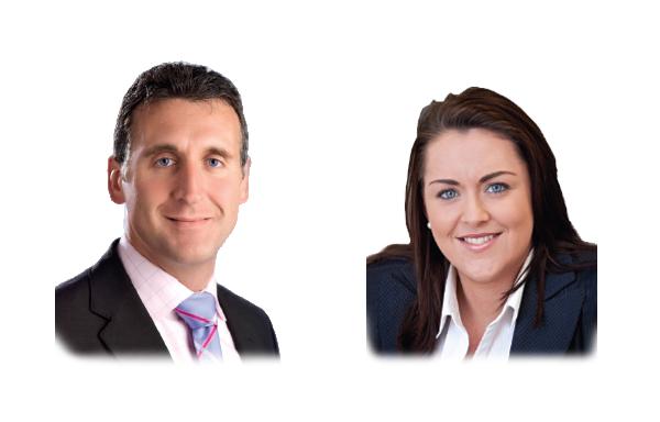 Tony Mancini and Sinéad Leddy KPMG's Guernsey office