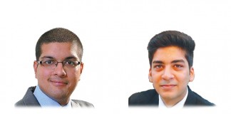 A photo of Bharadwaj Jaishankar and Gaurang Gautam who work at Sikrishna Associates