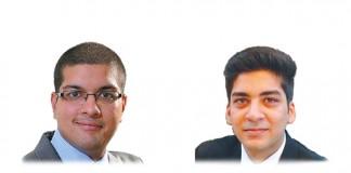 A photo of Bharadwaj Jaishankar and Gaurang Gautam who work at Sikrishna Associates