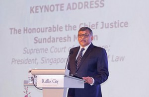 Chief Justice Sundaresh Menon was key speaker at the Singapore Academy of Law's conference earlier this year.