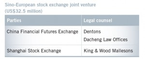 Sino-European stock exchange joint venture