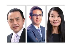从左至右:马春生、谢永涛、赵苗