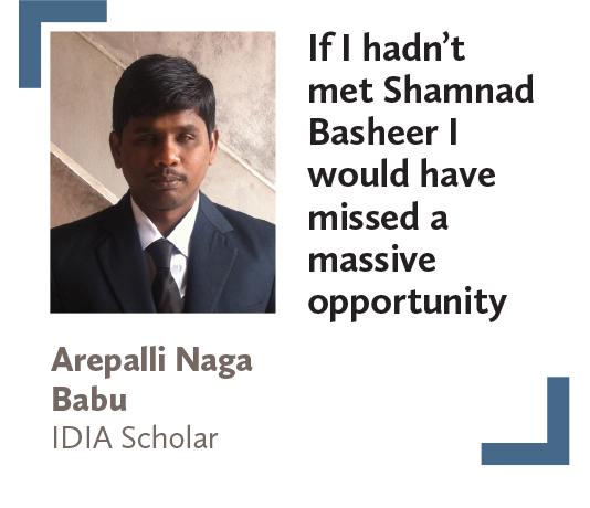 Arepalli Naga Babu IDIA Scholar
