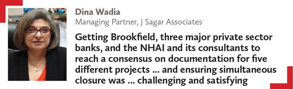 Dina Wadia Managing Partner, J Sagar Associates