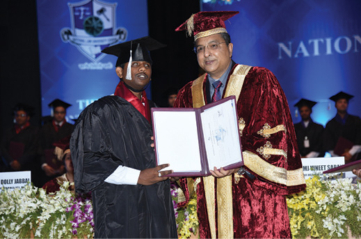 IDIA_Arepalli_Naga_Babu_at_his_graduation