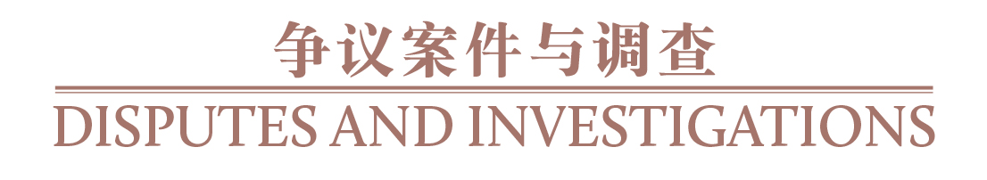 争议案件与调查 Disputes and investigations