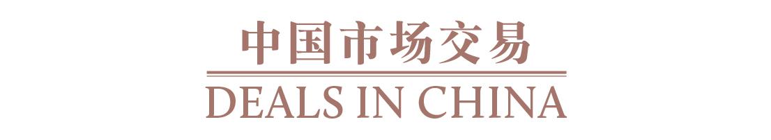 中国市场交易 Deals in China