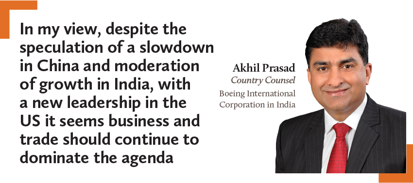 Akhil Prasad Country Counsel Boeing International Corporation in India