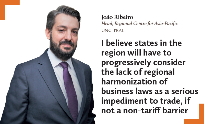 Joao Ribeiro Head Regional Centre for Asia-Pacific UNCITRAL