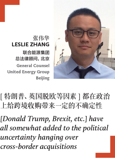 Leslie Zhang General Counsel United Energy Group Beijing