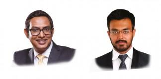 A photo of Nilesh Chandra and Abhinav Mishra