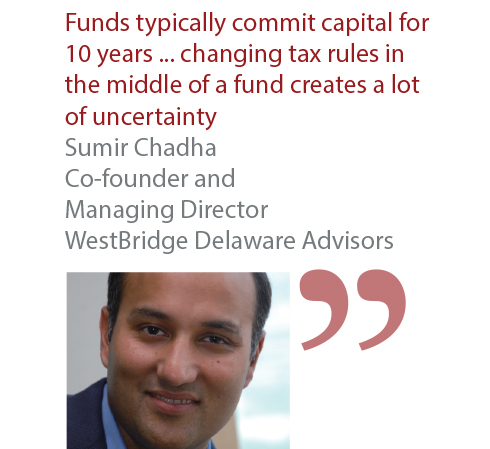 Sumir Chadha Co-founder and Managing Director WestBridge Delaware Advisors