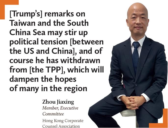 Zhou Jiaxing Member, Executive Commitee Hong Kong Corporate Counsel Association