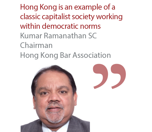 Kumar Ramanathan SC Chairman Hong Kong Bar Association