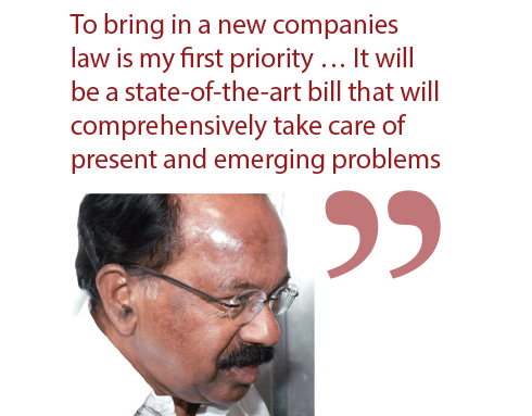 M Veerappa Moily Minister of Corporate Affairs 2