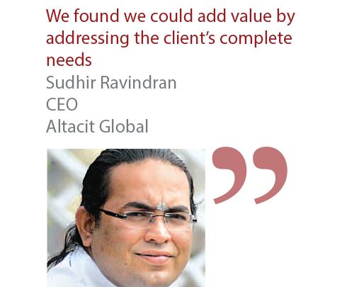 Sudhir Ravindran CEO Altacit Global