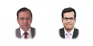 A photo of Vijai Mathur and Saiyam Chaturvedi from Link Legal India Law Services on an article about upside sharing agreements