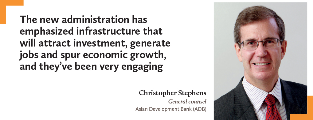Christopher Stephens, General counsel, Asian Development (ADB)