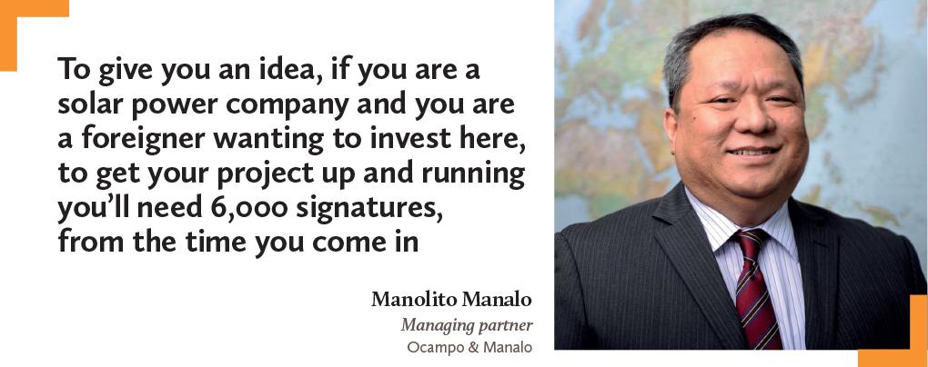Manolito Manalo, Managing partner, Ocampo & Manalo