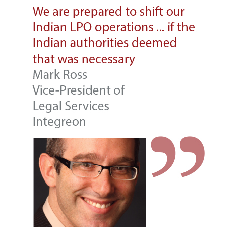 Mark Ross Vice-President of Legal Services Integreon