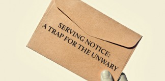 Serving notice a trap for the unwary