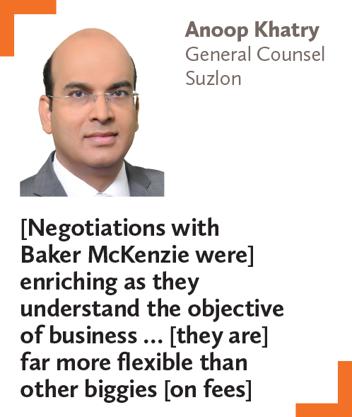 Anoop Khatry, General Counsel, Suzlon