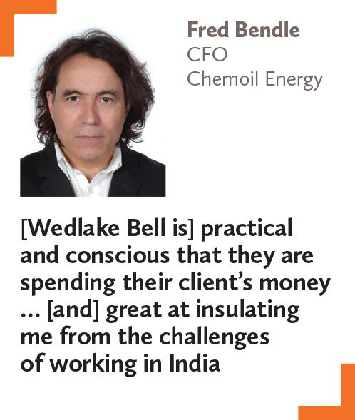 Fred Bendle, CFO, Chemoil Energy