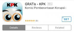 the Indonesian Corruption Eradication Committee (KPK) app