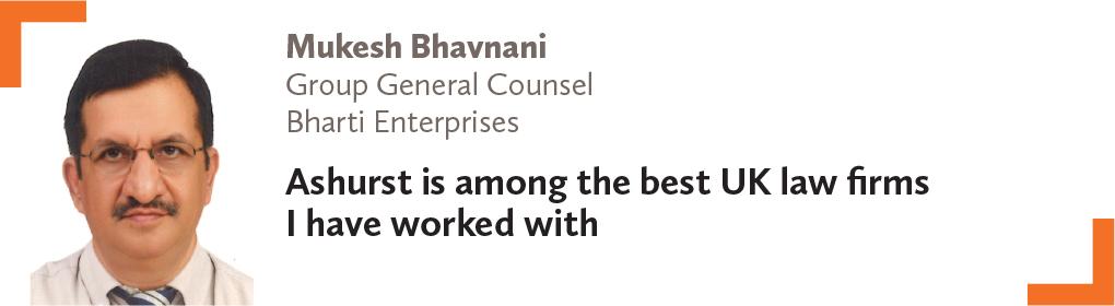 Mukesh Bhavnani, Group General Counsel, Bharti Enterprises