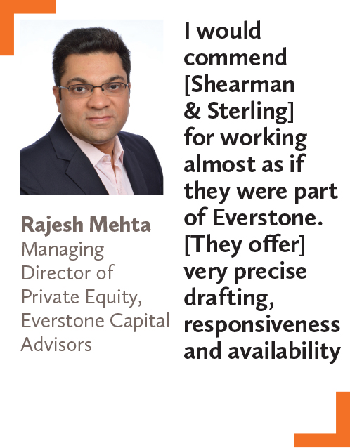 Rajesh Mehta, Managing Director of Private Equity, Everstone Capital Advisors