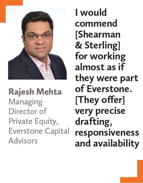 Rajesh Mehta, Managing Director of Private Equity, Everstone Capital Advisors