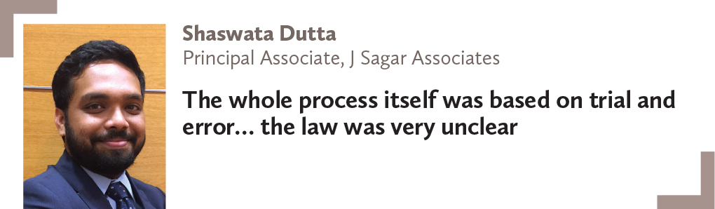 Shaswata Dutta, Principal Associate, J Sagar Associates
