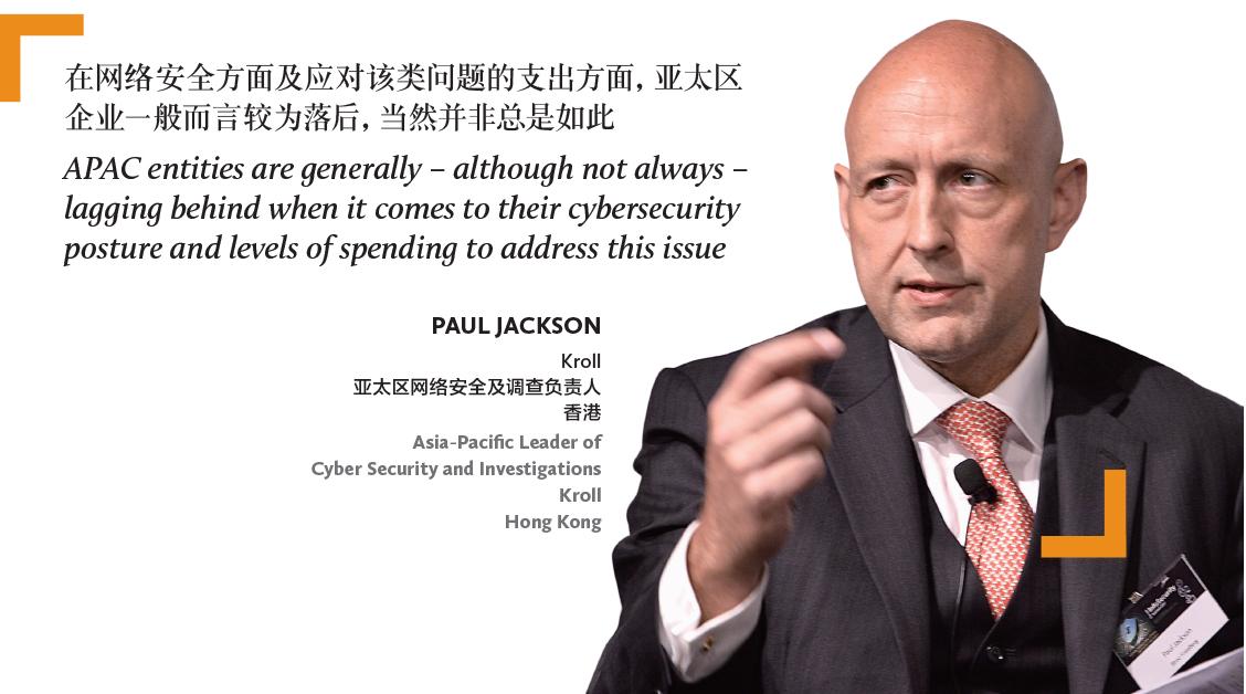 Paul Jackson Kroll 亚太区网络安全及调查负责人 香港 Asia-Pacific Leader of Cyber Security and Investigations Kroll Hong Kong