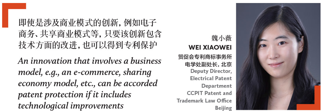魏小薇 WEI XIAOWEI 贸促会专利商标事务所 电学处副处长,北京 Deputy Director, Electrical Patent Department CCPIT Patent and Trademark Law Office Beijin