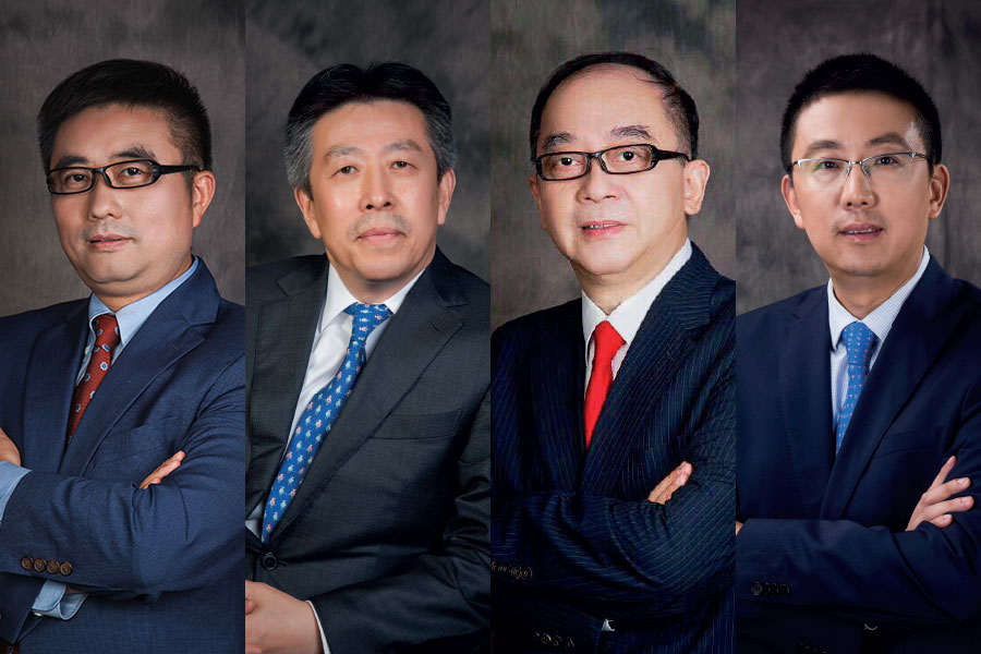 From left to right: William Wu, Steven Gong, Charles Duan, George Wang