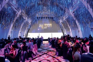 JW Marriott's ballroom provides a stunning backdrop for the evening