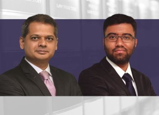 A photo of Vikrant Kumar and Naren BS from Luthra and Luthra Partners on an article about share swaps