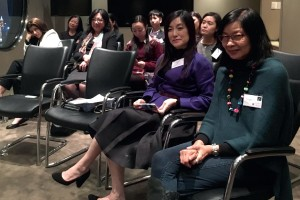 Women attend a third session of the Women in Law and Business Series organized by ACC Hong Kong and the Hong Kong Federation of Women Lawyers.