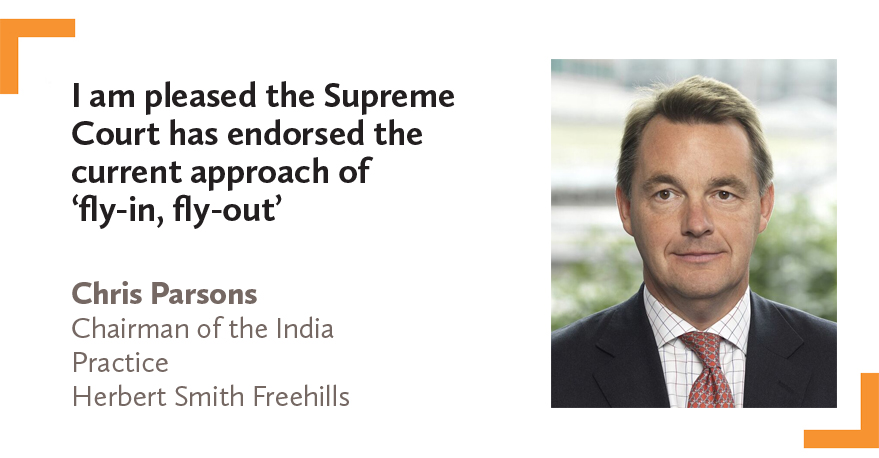 Chris Parsons Chairman of the India Practice Herbert Smith Freehills 2