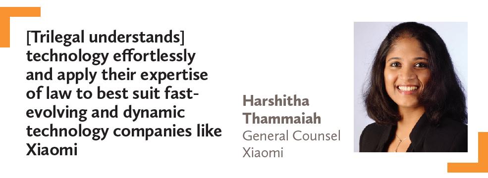Harshitha Thammaiah General Counsel Xiaomi