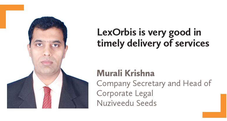 Murali Krishna Company Secretary and Head of Corporate Legal Nuziveedu Seeds 2