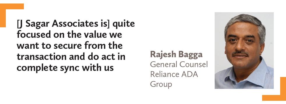 Rajesh Bagga General Counsel Reliance ADA Group