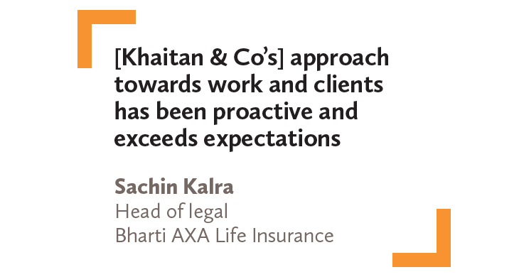 Sachin Kalra Head of legal Bharti AXA Life Insurance
