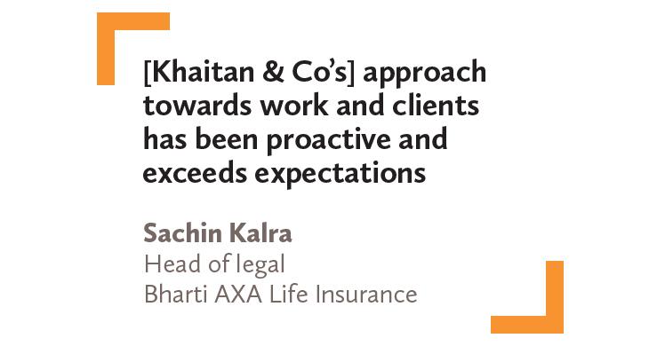 Sachin Kalra Head of legal Bharti AXA Life Insurance