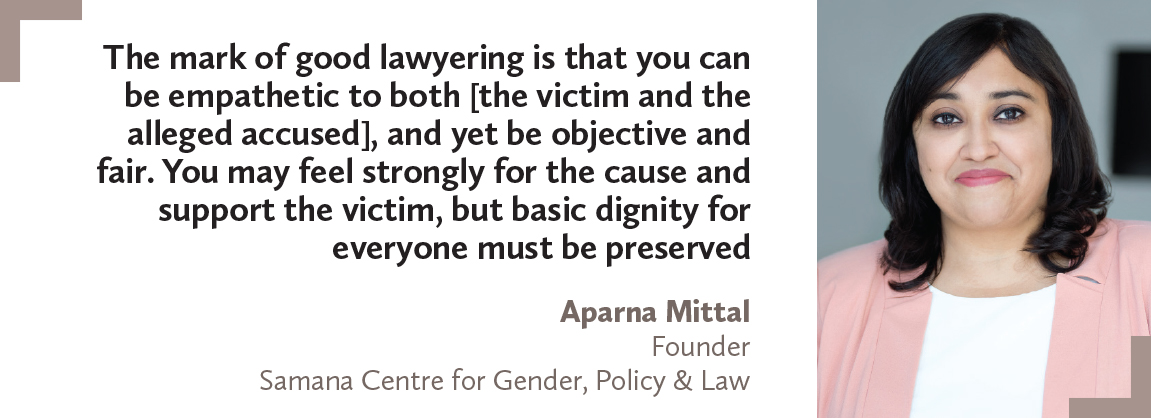 Aparna Mittal, Samana Centre for Gender, Policy & Law