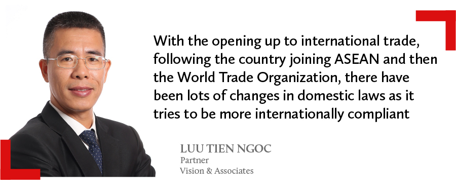 A quote of Luu Tien Ngoc, partner at Vision & Associates in Vietnam comments on the changes in domestic laws