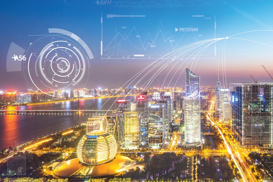 杭州, Hangzhou skyline view