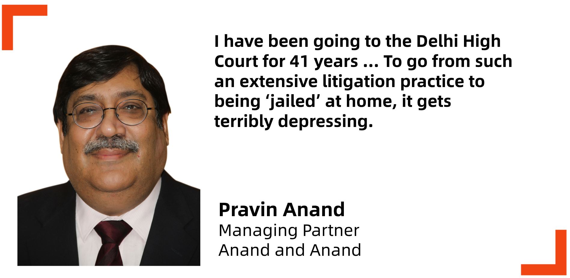 India virtual court video conference Pravin Anand and Anand