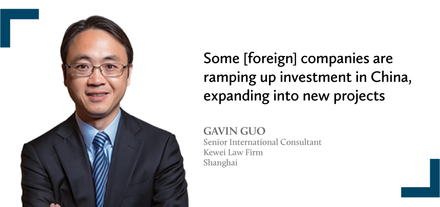 Gavin Guo Senior International Consultant Kewei Law Firm Shanghai