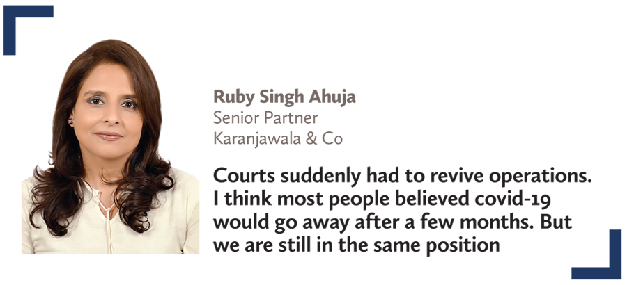 Virtual court,Ruby Singh Ahuja